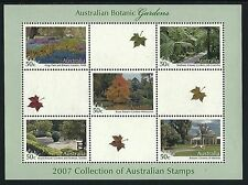 2007 Gardens miniature sheet of 5 from the collection booklet of 2007 stamps MUH