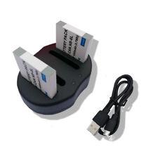 2X Battery NB-6L+charger FOR Canon PowerShot D10/D20/S90/S95/SX240 HS/SX500 IS
