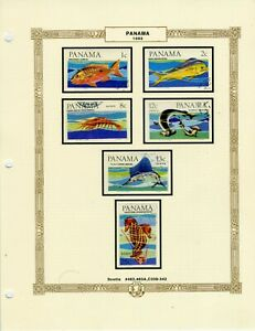 1965-66 Panama stamps: 48 CTO stamps on 7 album pages; SC#463-474E; CV=$30