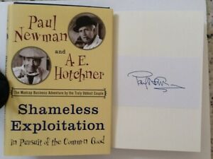 Paul Newman SIGNED Label Memoir Actor Food Tycoon Charity HC/DJ 2003 Adventure