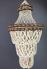 Vintage Mid Century Hanging Sea Shell Chandelier Beach Lamp Outdoor Indoor
