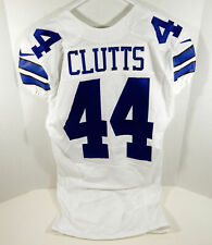 2015 Dallas Cowboys Tyler Clutts #44 Game Issued White Jersey DAL00100