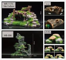 New Imitation Rockery Bark Moss Stone Bridge Fish Evade House Tank Decorations