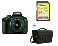 EOS 4000D DSLR Camera with EF-S 18-55 mm f/3.5-5.6 III Lens + 64 gb + Case in UK