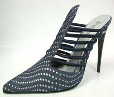 "Los Angeles Sommertraum Designer High Heels ""Dark Blue Denim"" Gr.36"