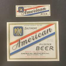 American Pilsener Beer Label / Irtp / Early 1930'S