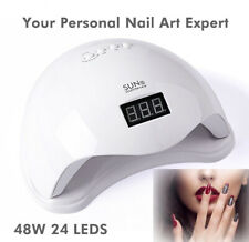 48W Gel Nail Polish Dryer 24 Beads Dual UV LED Source Nail Polish Dryer UV Lamp