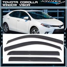 For 14-17 Corolla Window Visor Car Rain Window Shade Guard Visor Smoke 4PC