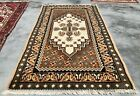 Authentic Hand Knotted Vintage Morocco Wool Area Rug 5 x 3 Ft (2294 KBN)