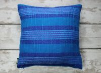 Vintage 60s Fabric Striped Cushion Pillow Cover. Retro Striped Pillow Case.