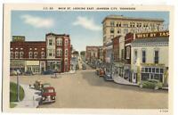Postcard Main St Looking East Johnson City TN