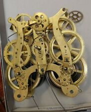 Vintage Seth Thomas Brass Clock Movement 5 7/8 working for parts or repair