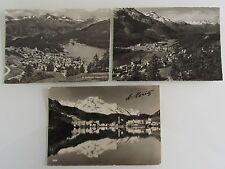 Postkarten Lot Schweiz 3x St. Moritz Graubünden AK ab/nach 1956 Ansichtskarten