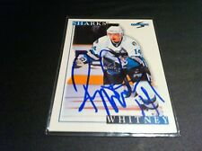 Ray Whitney Sharks 1995-96 Score Signed Auto Card