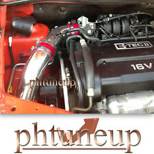 RED 2004-2008 CHEVY AVEO 1.6 1.6L BASE LS LT 4-DR COLD AIR INTAKE KIT + FILTER
