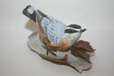 1987 Lenox Red Breasted Nuthatch Garden Birds Porcelain Figurine Sculpture Mint