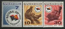 PAPUA NEW GUINEA 1972 NATIONAL DAY 3v MNH