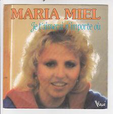 """Maria MIEL Vinyle 45T 7"""" SP JE T'AIMERAI N'IMPORTE OU - VOGUE 102036 F Réduit"""