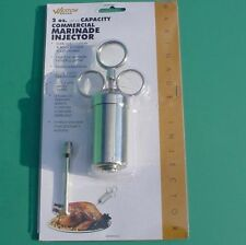 2 oz. Marinade Nickel Plated Meat Injector Commercial Grade