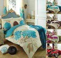 Kew Printed Duvet sets Or With Fitted Sheet Or Full set Or Curtains