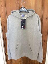 BNWT Champion Brand Logo Hoodie Grey - UK Medium - Retro Urban Streetwear Sport