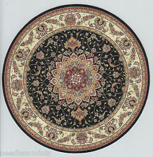 """1:12 Scale Dollhouse Round Oriental Area Rug 0001021 - approximately 8"""""""