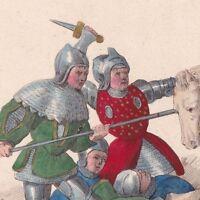 Bataille De  Roosebeke 1382 Flandre Charles VI Miliciens Flamands Van Artevelde