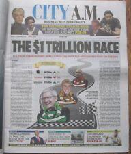 City AM Newspaper - Race to $1 Trillion - Amazon, Google, Apple - 2 Feb 2018