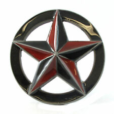 NAUTICAL STAR BELT BUCKLE RED 4 SAILORS NAVY SEA OCEAN MARITIME FIT SNAP BELT