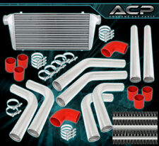 "3.0"" X8 Pcs Piping Kit+Coupler+T-Bolt Clamps+ 31""X11.5""X2.75"" Turbo Intercooler"