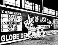 1946 Sportsman's Park Photo Large 11X14 - Musial Schoendienst Sisler Cardinals