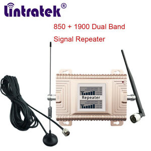 PCS CDMA 1900/850Mhz Mobile Phone Signal Amplifier Set Cellular Booster for Car