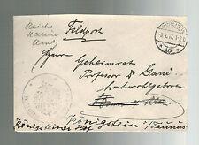 1917 Berlin Germany Kriegsmarine Navy Feldpost Cover
