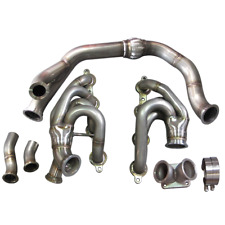 Single Turbo Manifold for Nissan S13 S14 with LS1 LSx Engine Swap T4