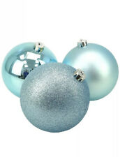 ICE Blue bolas grandes Mate y brillo de árbol de Navidad Bolas 150mm Paquete de 2
