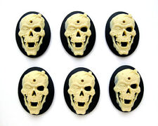 6 Goth Zombie Emo Steampunk VAMPIRE SKULL Fangs Spider 40mm x 30mm craft CAMEOS