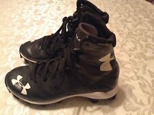 Football Highlight Under Armour cleats Size 2Y shoes sports athletic gray black