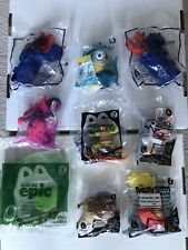 Lot of 9 McDonald's Happy Meal Toys (Angry Birds, Minions, Justice League, Sing)