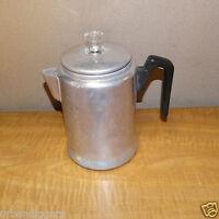 1469/ Vintage Aluminum Stovetop Coffee Pot Percolator Perculator  ~  Camp