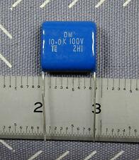 10 pcs 10uF 100V Met. Polyester Film Capacitors, copper radial leads NEW Audio