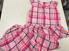 Gymboree Pretty In Pink Plaid Blouse Shirt & Skirt Outfit Girls Sz 7 6 Ln