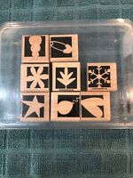 Stampin Up! 2003  Bold Shapes  Stamp Set of 12  Scrapbooking Crafts Art