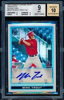 2009 Bowman Chrome Refractor Mike Trout Rookie RC Auto /500 BGS 9 10