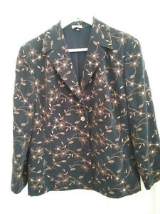 CC Womens Navy Blue/Gold thread Dressy Blazer Jacket Size 12 New