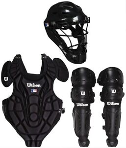 Gear Catchers Set Baseball Youth Adult All Star Black Catcher's  New Wilson Ches