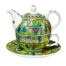 Goebel Birds on a Love Wire Tea for One Tasse mit Kanne James Rizzi Pop Art NEU