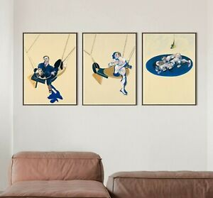 Francis Bacon Set of 3 Posters, Tripych 1970, Francis Bacon Print