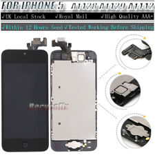 For iPhone 5 Screen Replacement LCD Touch Digitizer Display Button Camera Black