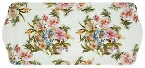 Tablett 39 x 17 x 2 cm Lily Rose geblümt Blumen The Leonardo Collection England