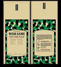 Poly Meat Bags Wild Game - 1 lb, Case of 1000 - Camo, Chub, Freezer, Stuffing